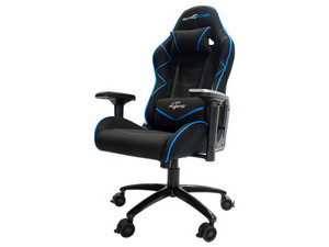 Silla Gaming Game Factor CGS600 reclinable. Negro/Azul.