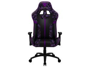 Silla gamer THUNDERX3 BC3 CAMO Ultravioleta, color morado.