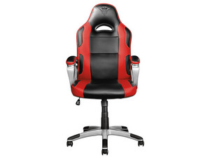 Silla Gaming Trust GXT 705R Ryon, reclinable. Color Negro/Rojo.