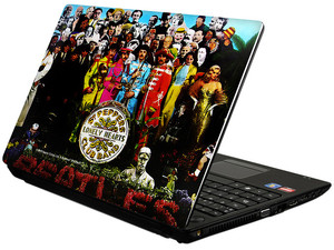 Skin TechZone The Beatles Sgt. Pepper's Lonely Hearts Club Band para Laptop Widescreen de 10.2
