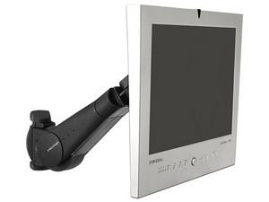 """Brazo de soporte para un monitor Ergotron de hasta 27\"""", de montaje en pared, con ajuste de altura e Inclinación."""