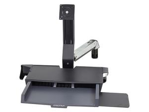 """Centro de trabajo Ergotron StyleView Sit-Stand 45-260-026, soporta pantallas de hasta 24\"""". Color Negro."""