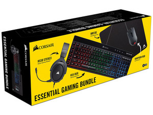 Kit Corsair Essential Gaming con Audífonos, Teclado, Mouse y Mouse Pad.