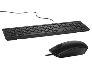 Teclado DELL KB216, USB, (Versión Español) + Mouse óptico DELL MS116, USB. Color Negro.
