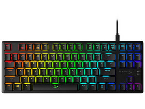 Teclado mecánico Kingston HX-KB7RDX-US HyperX Alloy Origins, HyperX RED Switch, USB, RGB, (Versión en Inglés).