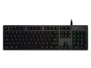 Teclado Mecánico Logitech Gaming G512, RGB, GX Blue, USB. Color Negro.