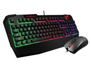 Teclado Gamer y Mouse MSI Vigor GK40 Combo, USB, LEDs RGB.