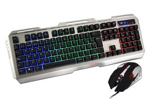 Kit Gamer de Teclado y Mouse Naceb Na-0911 Cyborg Led RGB, USB.