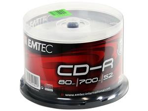 Paquete de 50 CD-R Emtec de 700 MB, 52x.