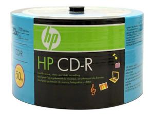 Paquete de CD-R HP, 700Mb, 52x, 50 Piezas.