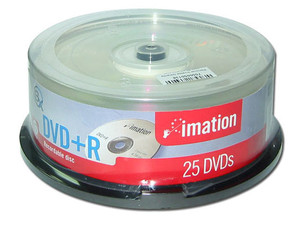 Paquete de 25 DVD+R Imation de 4.7GB / 8X