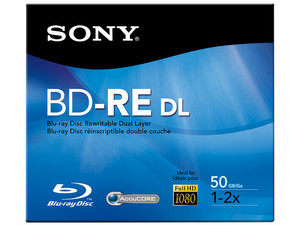 BD-RE Sony Re-grabable, 50 GB, 2x, 1 pieza