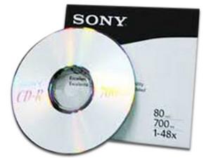 CD-R Sony en sobre de papel 700MB, 1x-48x. (1 pieza)
