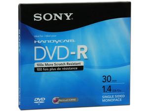 Mini DVD-R Sony, 1.4GB, 30min, 1 pieza.