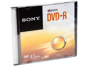 DVD-R Sony, 4.7 GB, 16x, 1 pieza.