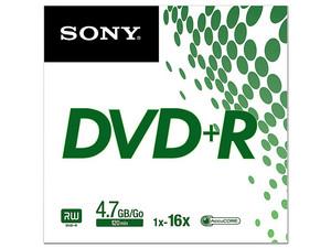 DVD+R Sony de 4.7 Gb, x16, Sobre con 1 pieza.