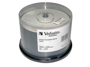 Paquete de 50CDs Verbatim Imprimibles, 700MB/80Min, 52X.