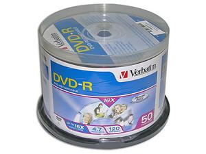 Paquete de 50 DVD-R Verbatim de 4.7GB, 16X