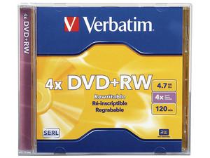 DVD+RW Verbatim VB94520 de 4.7GB/120min, 4X.