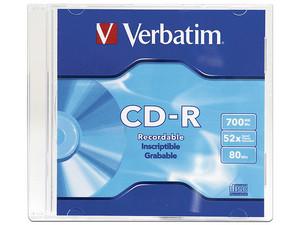 CD-R Verbatim VB94776 de 700MB/80min, 52X.