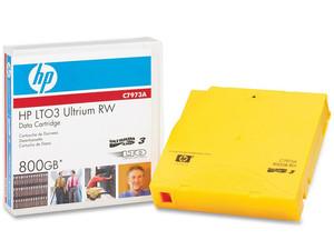Cartucho de datos regrabable HP LTO3 Ultrium RW de 800GB, (680 m).