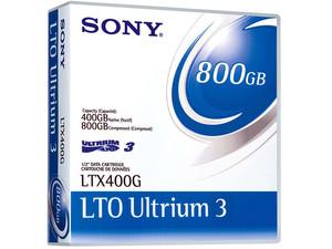 Cartucho de datos Sony LTO Ultrium 3 de 400GB Nativo/800GB Comprimido, (680 m).