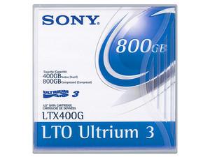 Cartucho de datos Sony LTO Ultrium 3de 400 Gb Nativo / 800 Gb Comprimido.