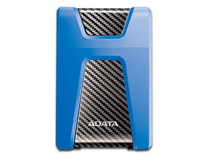 Disco Duro Portátil ADATA DashDrive Durable HD650 de 1 TB, resistente a golpes, USB 3.0. Color Azul.