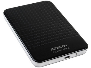 Disco Duro Portátil ADATA Superior SHO2 de 500 GB, USB 2.0. Color Negro