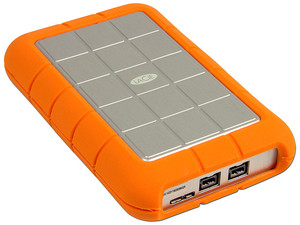 Disco Duro Portátil LaCie Rugged Triple de 500 GB, USB 3.0 y FireWire 800.