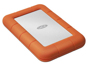 Disco Duro Portátil LaCie Rugged Mini de 2 TB, USB 3.0.