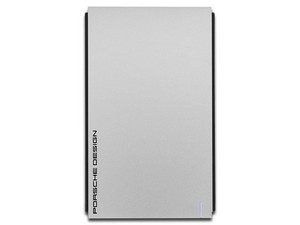 Disco duro portátil LaCie Porsche Design Mobile Drive de 1TB, USB 3.0 y USB-C para Windows y Mac, Color Plata.