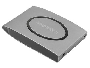 Disco Duro Portable SimpleTech Ice de 250GB, USB 2.0. Color Gris
