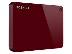 Disco Duro Portátil Toshiba Canvio Advance de 1 TB, USB 3.0, Color Rojo.