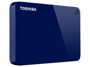 Disco Duro Portátil Toshiba Canvio Advance de 2 TB, USB 3.0, Color Azul.