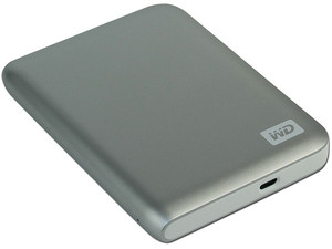 Disco Duro Portable Western Digital Passport Essential SE de 750GB, USB 2.0. Color Plateado