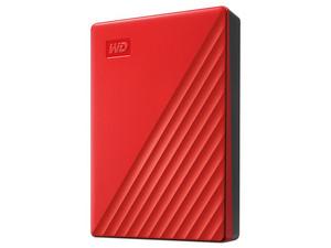 """Disco Duro Externo Western Digital My Passport de 4 TB, 2.5\"""", USB 3.0. Color Rojo."""