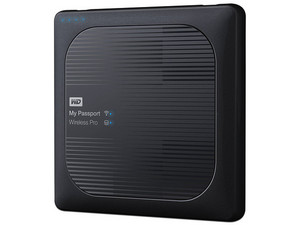 Disco Duro Portátil Western Digital My Passport Wireless Pro 4 TB, USB 3.0, Wi-Fi, SD.