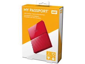 Disco Duro Externo Western Digital My Passport de 2 TB, USB 3.0.