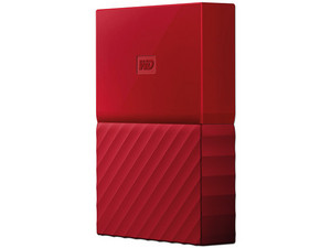 Disco Duro Externo Western Digital My Passport de 3 TB, USB 3.0. Color Rojo