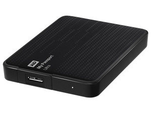 Disco Duro Portátil Western Digital My Passport Ultra de 1 TB, USB 3.0. Color Negro.