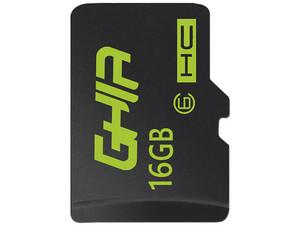 Memoria Ghia MicroSDHC de 16 GB Clase 6 , incluye adaptador.