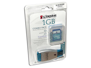 Kingston TravelLite Reader, Lee tarjetas Secure Digital. Incluye tarjeta SD de 1GB