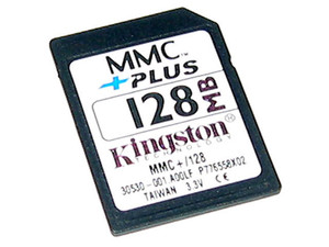 Memoria Kingston de 128MB, MultimediaCard Plus (MMCplus)