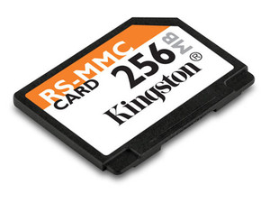 Memoria Kingston de 256MB, MultiMedia de tamaño reducido (RS-MMC)