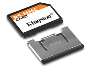 Memoria Kingston de 512MB, MultiMedia de tamaño reducido (RS-MMC)