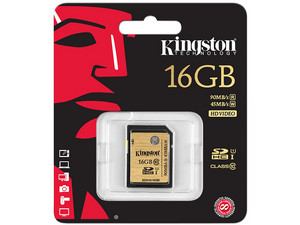 Memoria Kingston SDHC de 16GB  UI, Clase 10