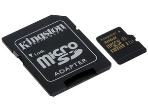 Memoria Kingston microSDHC UHS-1 de 32 GB, Clase 10 incluye adaptador SD.