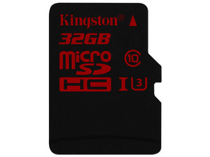 Memoria Kingston microSDHC UHS-I U3 de 32 GB.