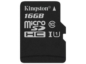 Memoria Kingston MicroSDHC Canvas Select 80R de 16GB, Clase 10.